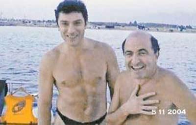 Борис Березовский и Борис Немцов на отдыхе